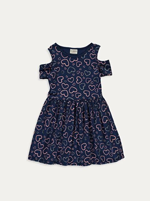 Kız Çocuk Omuzu Açık Pamuklu Elbise ve Çanta - LC WAIKIKI