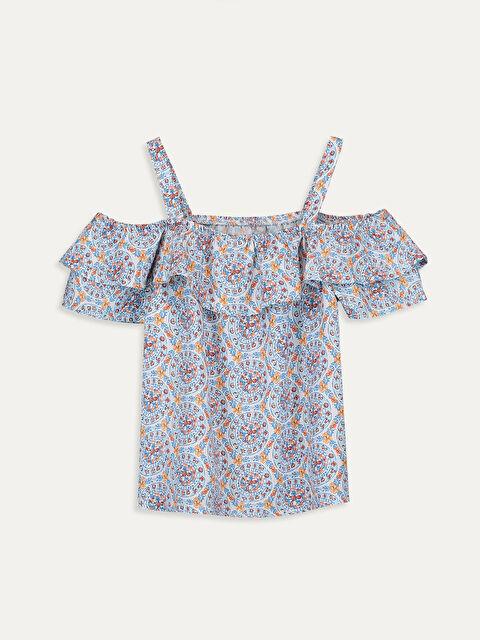 Kız Çocuk Omuzu Açık Viskon Bluz - LC WAIKIKI