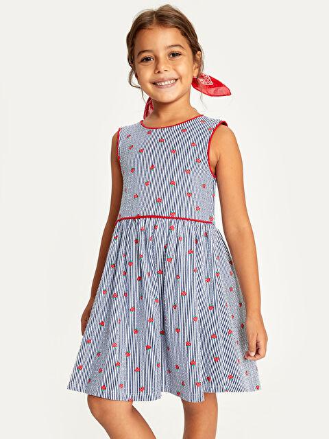 Kız Çocuk Baskılı Pamuklu Elbise - LC WAIKIKI