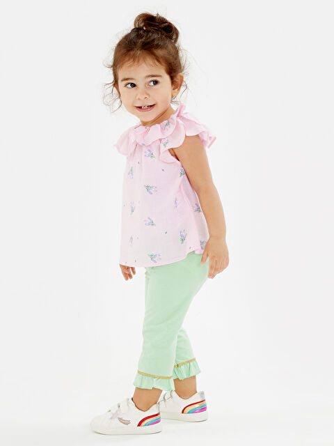 Kız Bebek Desenli Pamuklu Bluz - LC WAIKIKI