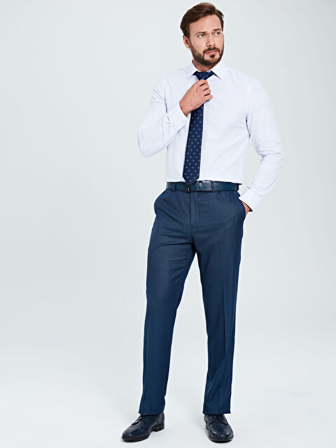 Standart Kalıp Armürlü Takım Elbise Pantolonu - LC WAIKIKI