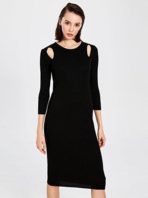 Omuz Detaylı Işıltılı Triko Kalem Elbise - LC WAIKIKI