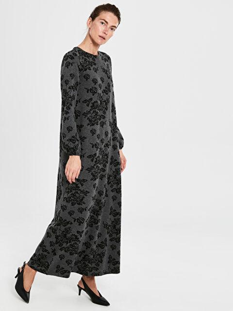Çiçek Desenli Uzun Salaş Elbise - LC WAIKIKI