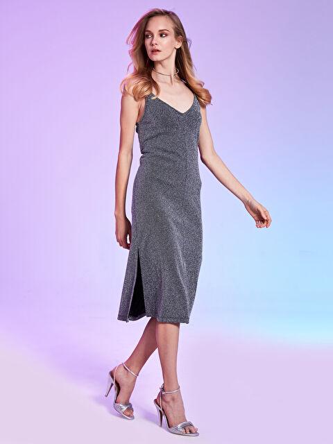 Rubyred Askılı Işıltılı Elbise - Markalar