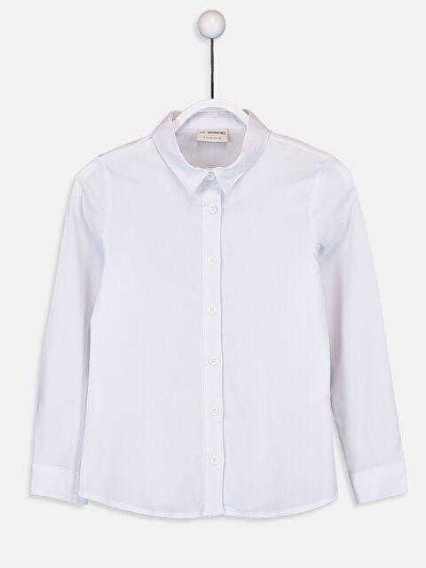 Kız Çocuk Uzun Kollu Poplin Gömlek - LC WAIKIKI