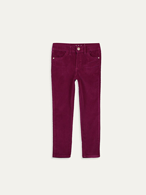 Kız Çocuk Skinny Kadife Pantolon - LC WAIKIKI