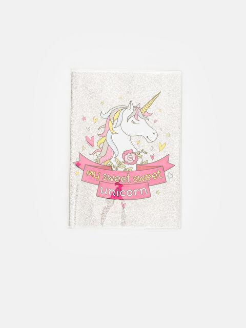 Kız Çocuk Unicorn Baskılı Kareli Defter - LC WAIKIKI