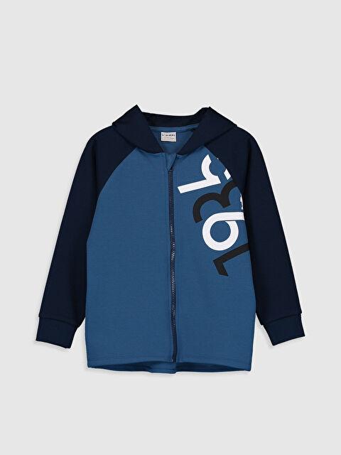 Erkek Çocuk Fermuarlı Kapüşonlu Sweatshirt - LC WAIKIKI
