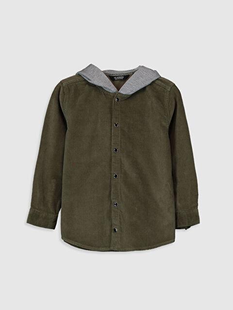 Erkek Çocuk Kapüşonlu Kadife Gömlek - LC WAIKIKI