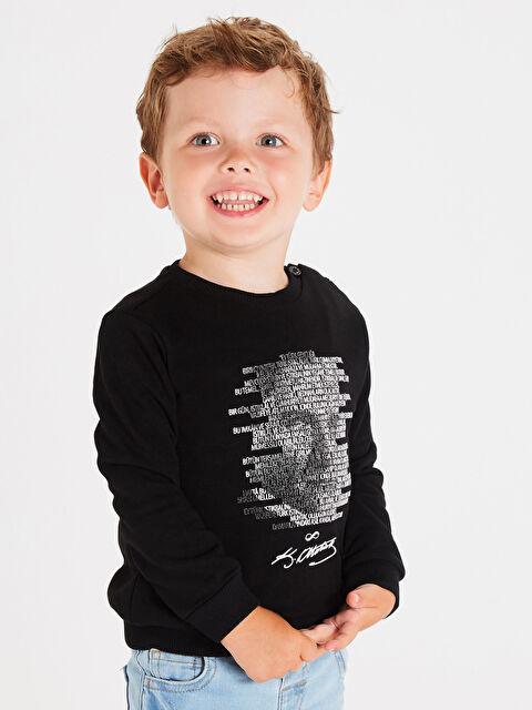 Aile Koleksiyonu Erkek Bebek Atatürk Gençliğe Hitabe Baskılı Sweatshirt - LC WAIKIKI