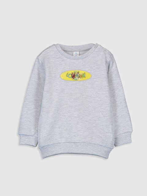 Erkek Bebek Nostaljik Maymun Baskılı Sweatshirt - LC WAIKIKI