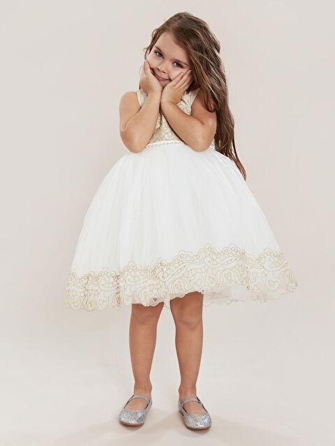 Daisy Girl Kız Bebek Desenli Abiye Elbise - Markalar