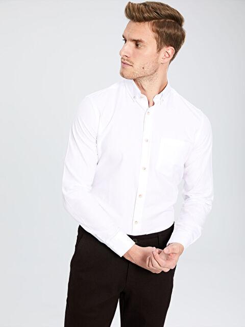 Regular Fit Basic Gömlek - LC WAIKIKI