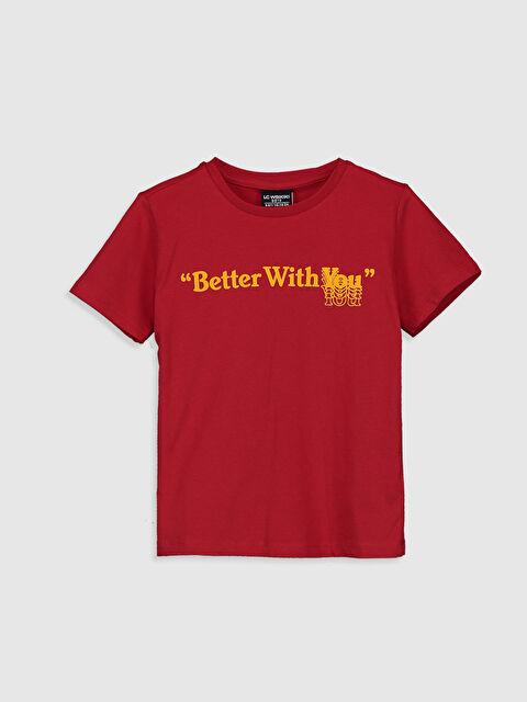 Aile Koleksiyonu Erkek Çocuk Yazı Baskılı Pamuklu Tişört - LC WAIKIKI