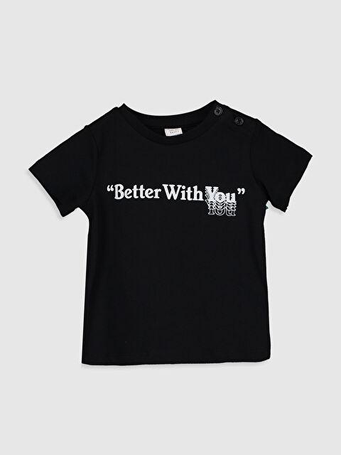 Aile koleksiyonu Erkek Bebek Slogan Yazı Baskılı Pamuklu Tişört - LC WAIKIKI