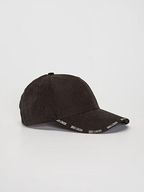 Yazı Şeritli Süet Şapka - LC WAIKIKI