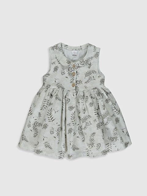 Aile koleksiyonu Kız Bebek Desenli Poplin Elbise - LC WAIKIKI