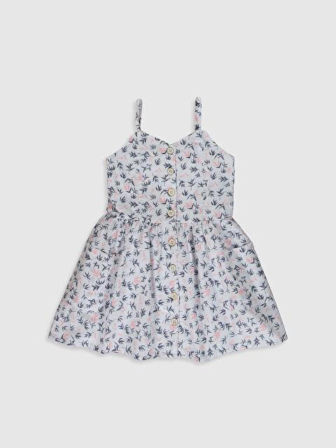 Aile Koleksiyonu Kız Çocuk Desenli Poplin Elbise - LC WAIKIKI