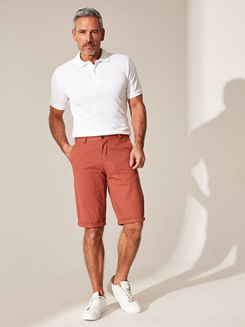 Regular Fit Basic Bermuda Şort - LC WAIKIKI