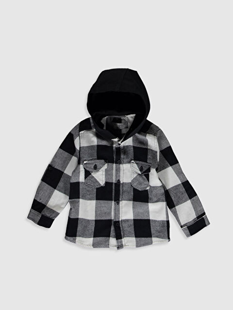 Erkek Bebek Kapüşonlu Ekose Gömlek - LC WAIKIKI