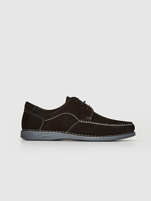Erkek Süet Hakiki Deri Bağcıklı Klasik Ayakkabı - LC WAIKIKI