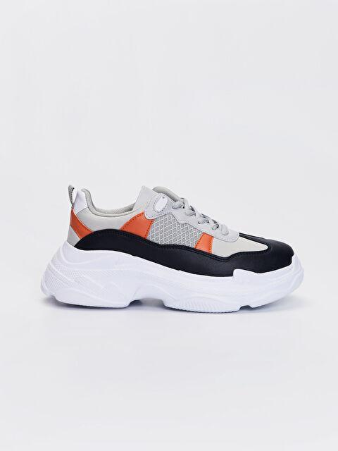 Kadın Kalın Taban Renk Bloklu Günlük Spor Ayakkabı - LC WAIKIKI
