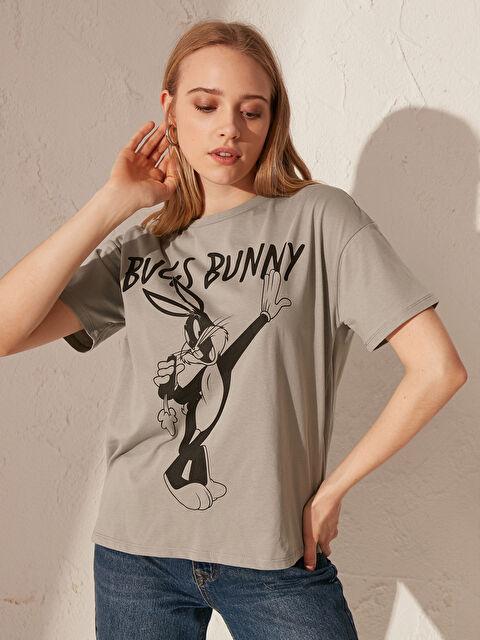 Bugs Bunny Baskılı Pamuklu Tişört - LC WAIKIKI