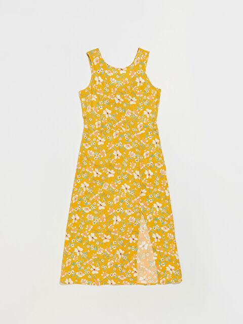 Çiçek Desenli Viskon Elbise - LC WAIKIKI