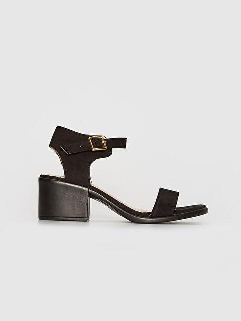 Kadın Topuklu Süet Sandalet - LC WAIKIKI