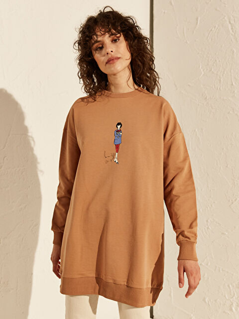 Baskılı Oversize Sweatshirt - LC WAIKIKI