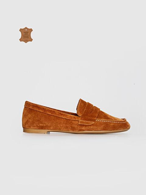 Kadın Klasik Hakiki Deri Süet Ayakkabı - LC WAIKIKI