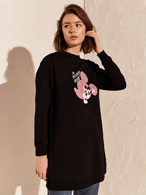 Mickey Mouse Baskılı Sweatshirt - LC WAIKIKI