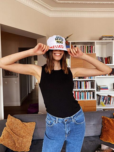 Slogan Baskılı Gabardin Bucket Şapka - LC WAIKIKI