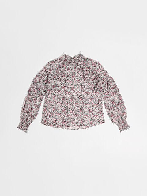 Nisan Triko Çiçek Desenli Bluz - Markalar