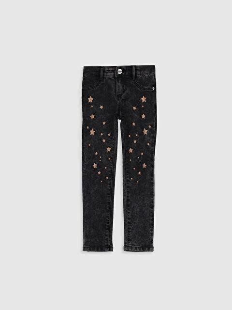 Kız Çocuk Baskılı Skinny Jean Pantolon - LC WAIKIKI