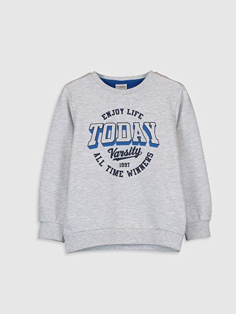 Erkek Çocuk Yazı Baskılı Sweatshirt - LC WAIKIKI