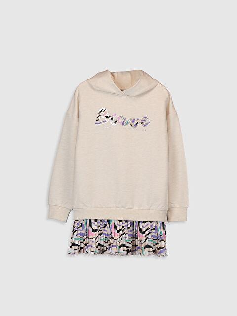 Kız Çocuk Pileli Sweatshirt Elbise - LC WAIKIKI