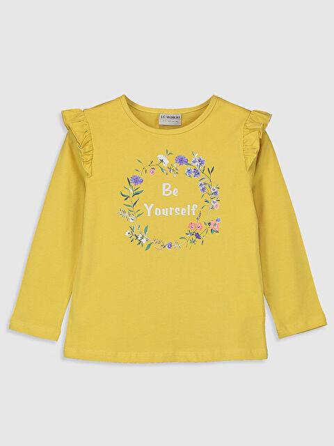 Kız Çocuk Baskılı Fırfırlı Tişört - LC WAIKIKI