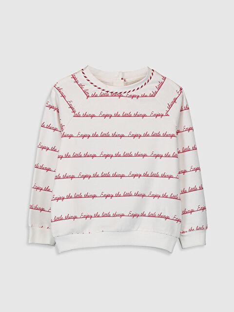 Kız Çocuk Yazı Baskılı Sweatshirt - LC WAIKIKI