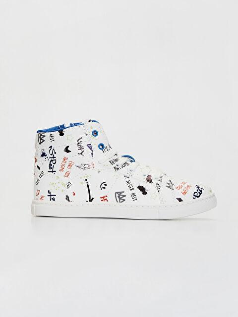 Erkek Çocuk Baskılı Günlük Bilekli Ayakkabı - LC WAIKIKI