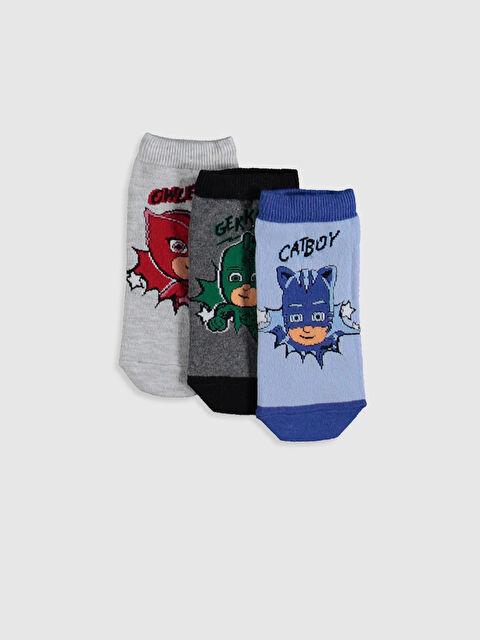 Erkek Çocuk Pijamaskeliler Patik Çorap 3'lü - LC WAIKIKI