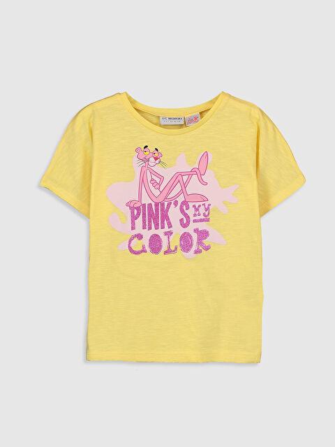 Kız Çocuk Pembe Panter Baskılı Pamuklu Tişört - LC WAIKIKI