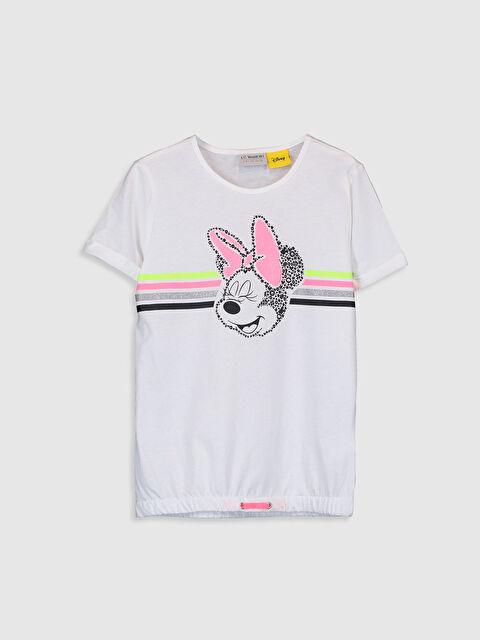 Kız Çocuk Minnie Mouse Baskılı Pamuklu Tişört - LC WAIKIKI