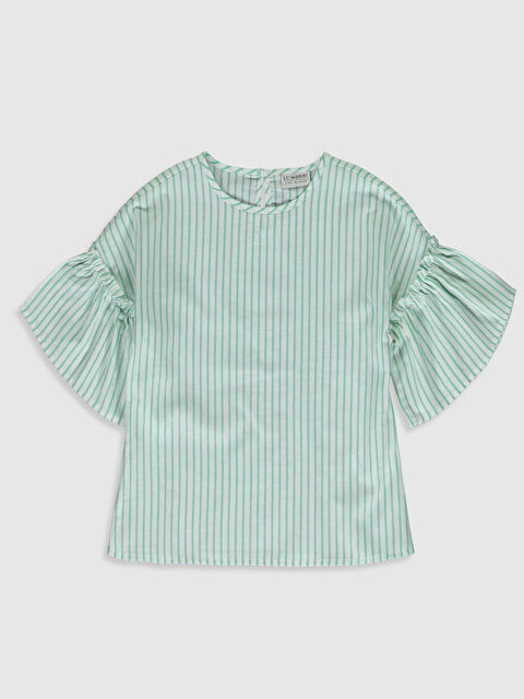 Kız Çocuk Çizgili Viskon Bluz - LC WAIKIKI