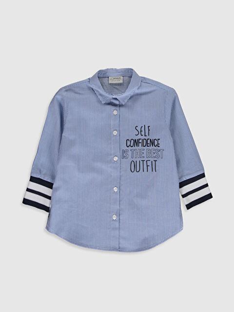 Kız Çocuk Çizgili Poplin Gömlek - LC WAIKIKI