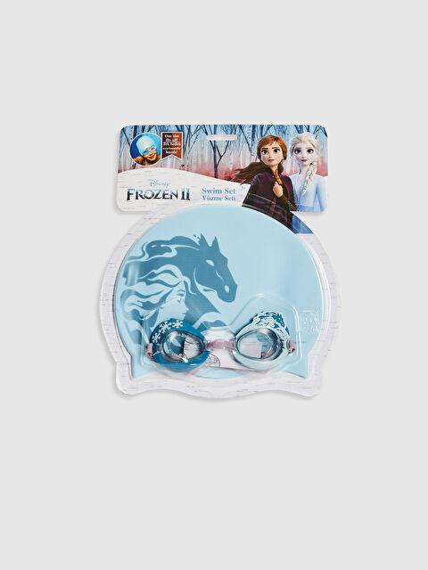 Kız Çocuk Frozen Deniz Gözlüğü ve Bone Takım - LC WAIKIKI