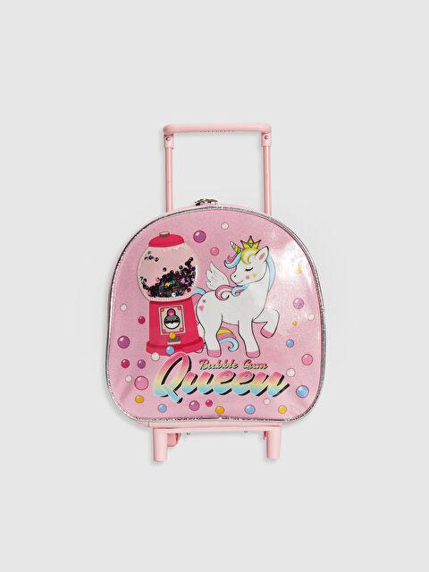 Kız Çocuk Unicorn Baskılı Çekçekli Çanta - LC WAIKIKI