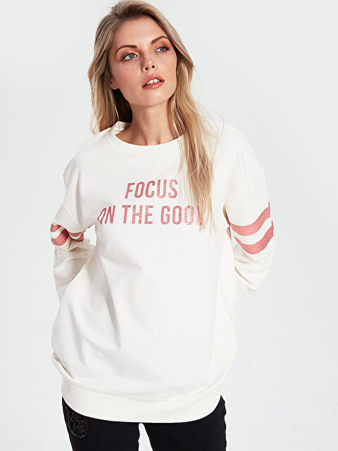 Slogan Baskılı Sweatshirt - LC WAIKIKI
