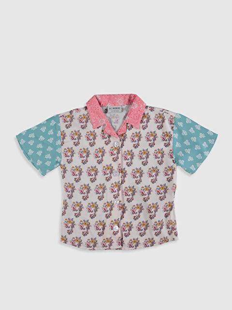 Kız Çocuk Desenli Viskon Gömlek - LC WAIKIKI