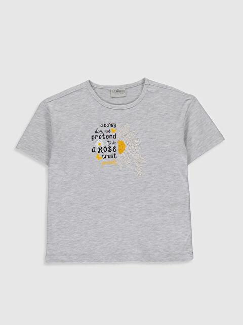 Kız Çocuk Baskılı Kısa Kollu Tişört - LC WAIKIKI